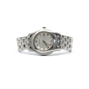 Gucci White Gold Plate Watch Excellent